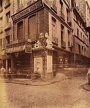 EUGENE ATGET (FRENCH, 1857-1927) Street of Paris, France, 1880 albumen print