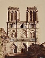 EDUARD BALDUS (FRENCH, 1813-1889) Cathedral de Notre Dame, circa 1857 albumen print mounted on board