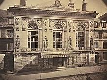 BISSON BROTHERS (FRENCH, 1814-1876 AND 1829-1900) Theatre in Paris, 1860 albumen print from wet plate negative