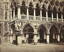 BISSON BROTHERS (FRENCH, 1814-1876 AND 1829-1900) Royal Palace detail (Palais Ducal), Venice, 1858 albumen print from wet plate neg...