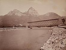 ADOLPHE BRAUN (FRENCH, 1812-1877) Gotthardbahn, circa 1880 albumen print on original card mount