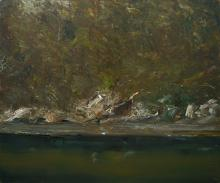 GEOFF DYER (1947-2020) Recherche Bay 4 2008 oil on linen