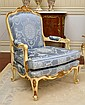 PAIR OF FRENCH STYLE PAINTED FAUTEUILS