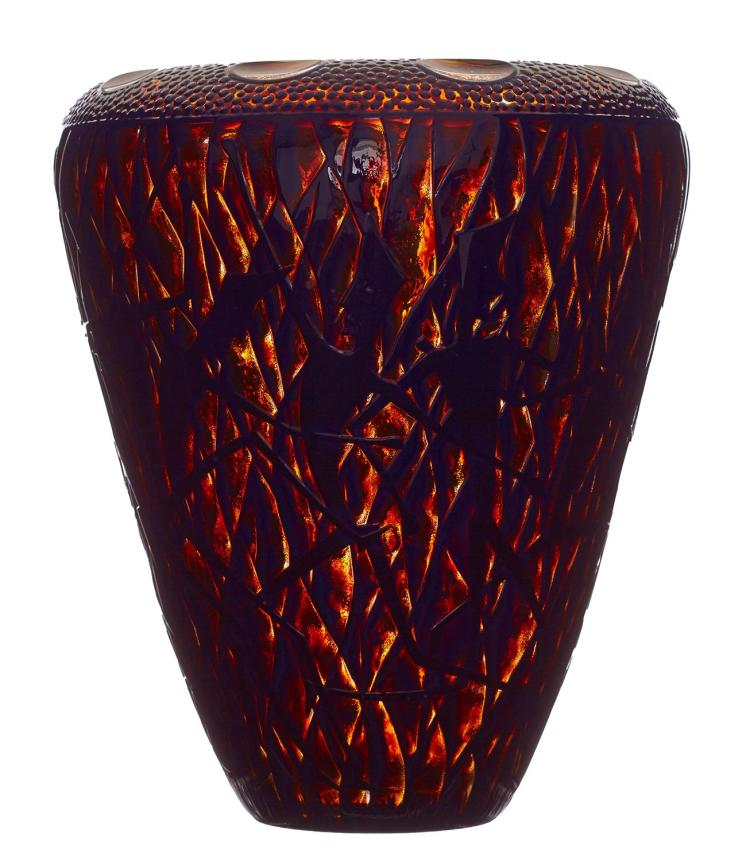 KEVIN GORDON (born 1968) Fire Dance Vase c.2000 glass