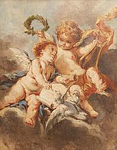 AFTER FRANCOIS BOUCHER (French, 1703-1770) Cherubs oil on canvas