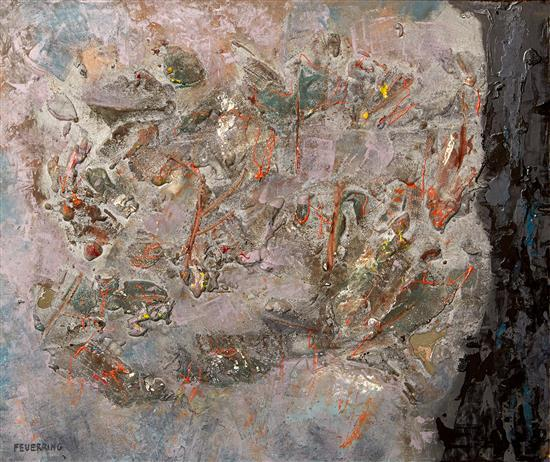 MAXIMILIAN FEUERRING (1896-1985) Untitled mixed media on board