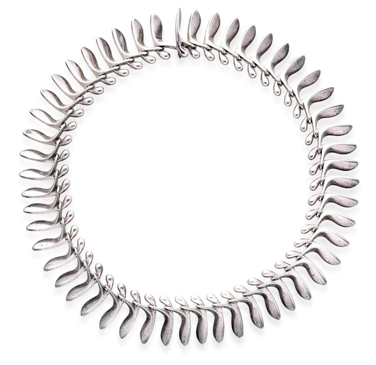 A GEORG JENSEN POD NECKLACE BY BENT GABRIELSEN, CIRCA 1953