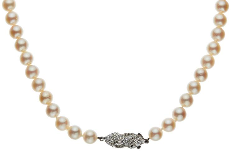 A STRAND OF MIKIMOTO CULTURED PEARLS FOR LANE CRAWFORD