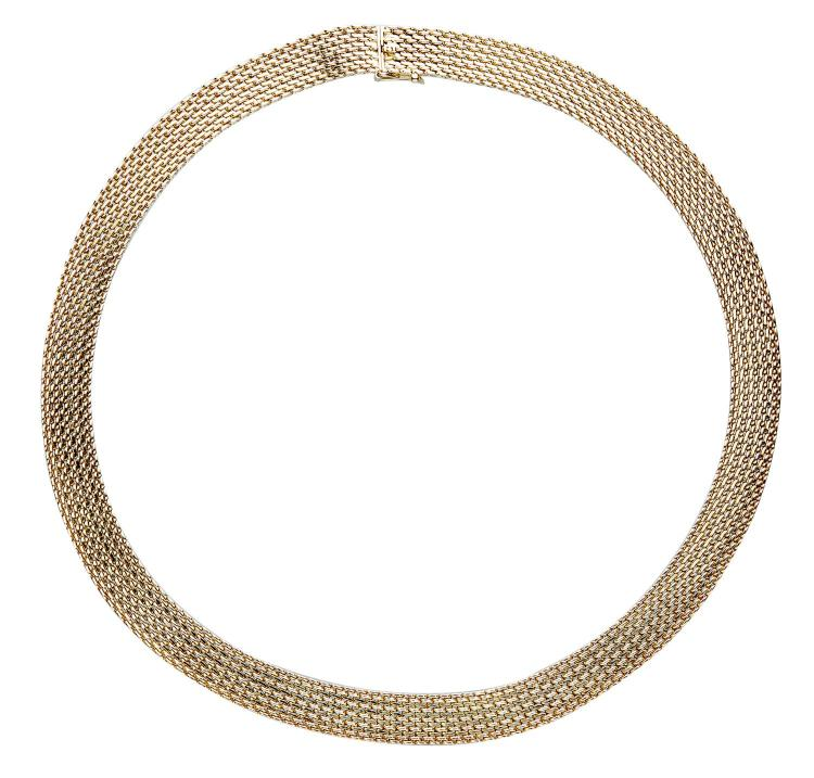 A GOLD COLLAR AND BRACELET BY HARDY BROTHERS