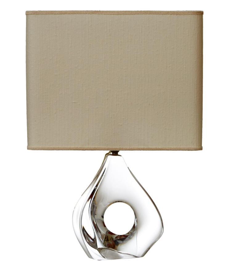 A DAUM CRYSTAL LAMP, CIRCA 1970