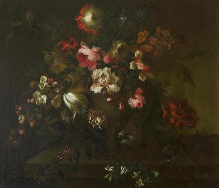 EUROPEAN SCHOOL Floral Still Life oil on canvas