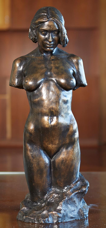 UNKNOWN ARTIST Female Nude 1974 bronze