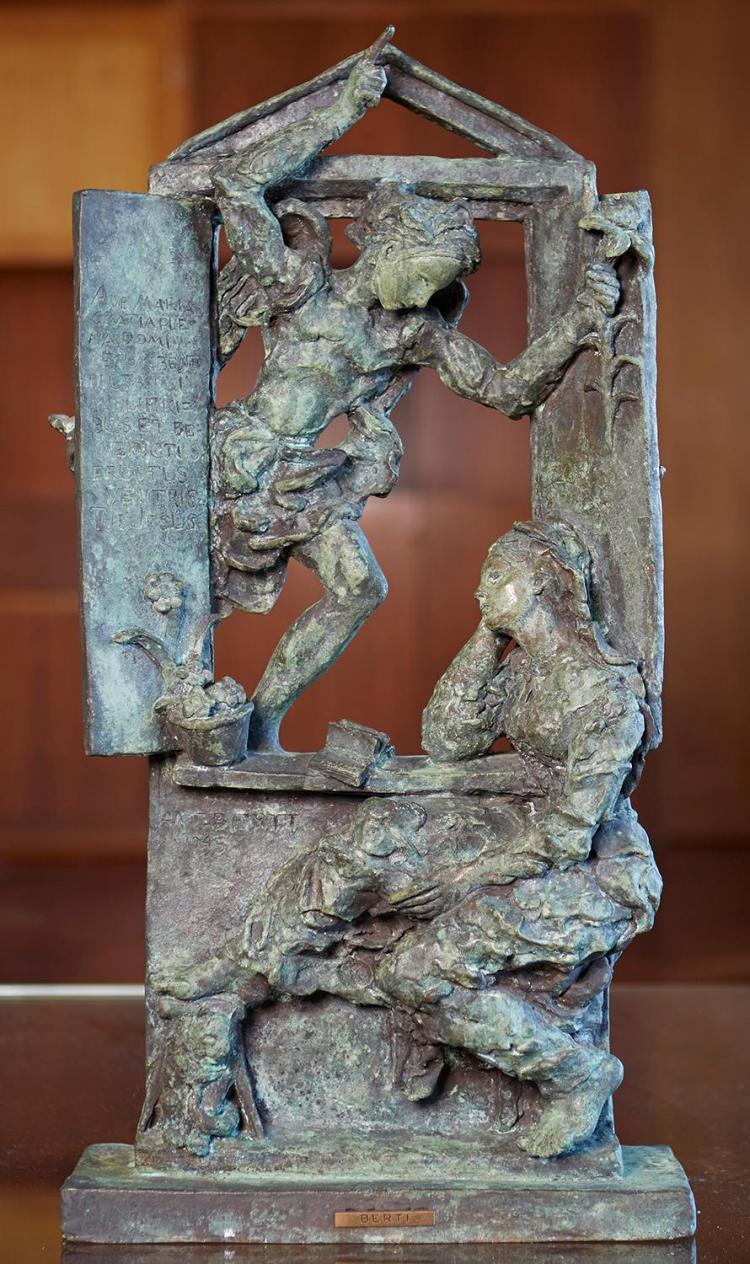 AFTER ANTONIO BERTI (Italian, 1904-1990) Annunciation 1945 bronze