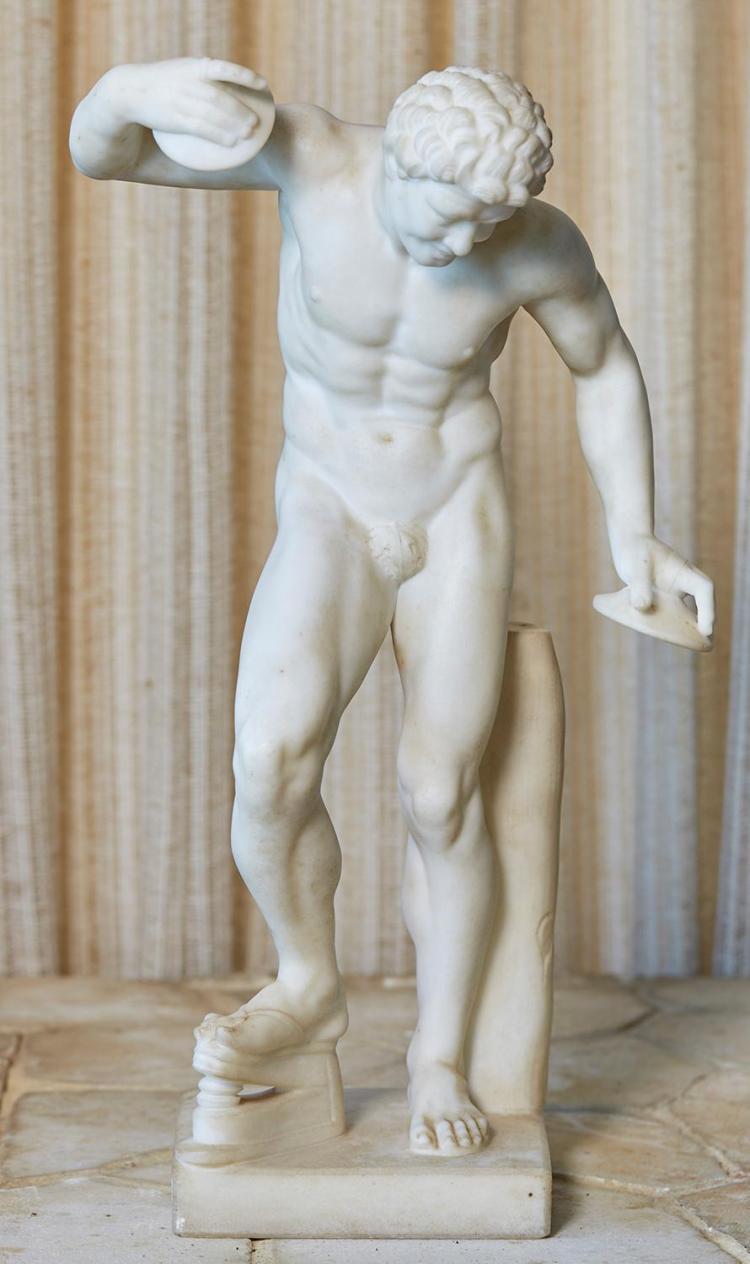 AFTER PIETRO BAZZANTI (Italian, c.1823-c.1874) The Cymbalist marble