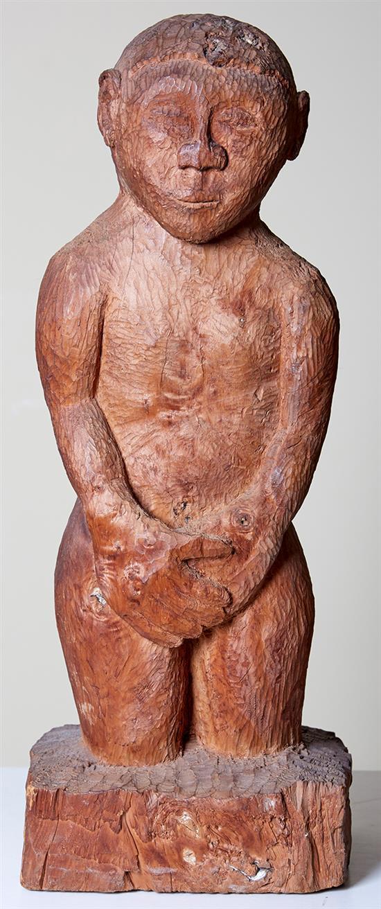SOUTH AFRICAN SCHOOL Shy Boy carved wood