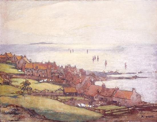 ROBERT EADIE (British, 1877-1954) Pittenweem, Fife oil on canvas