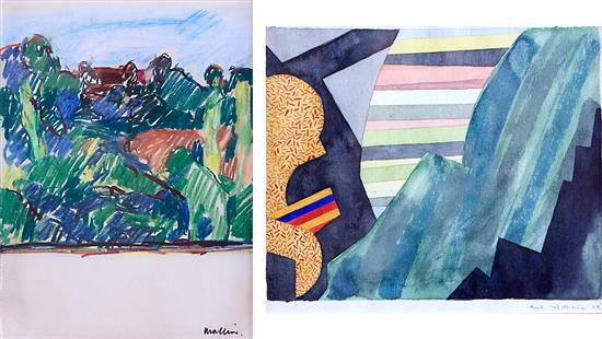 JEFF MAKIN (born 1943) Strath Reserve No.3 1976 pastel on paper