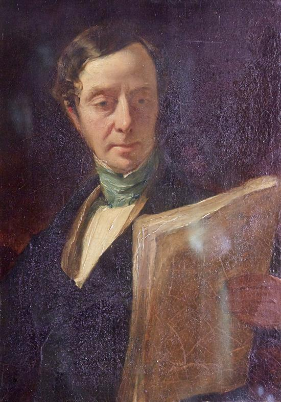 ATTRIBUTED TO ANDREW GEDDES (British, 1783-1844) Portrait of John Kelman, Esq. oil on board