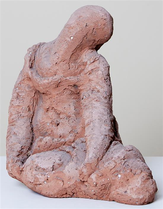 BEN MACALA (South African, 1937-1997) Seated Woman terracotta
