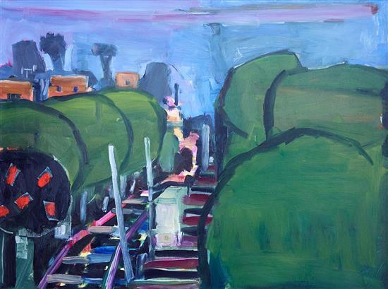 JOE FROST (born 1974) Rail Corridor 2004 oil on board