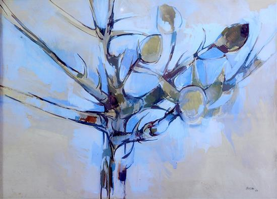 ANDREW VERSTER (South African, born 1937) Tree 1962 gouache on paper