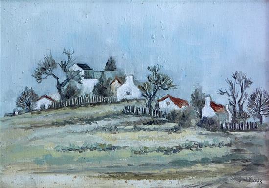 BARRY DE VILLIERS (South African, Twentieth Century) Landscape oil on board