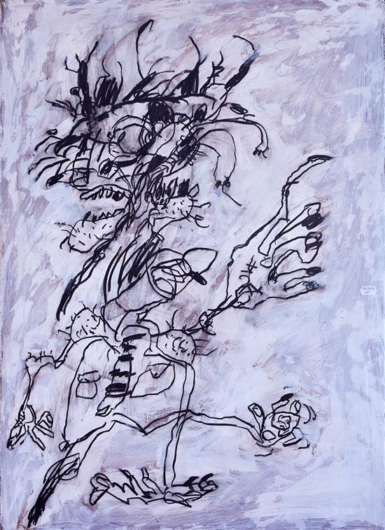 JOHN SMITH (born 1952) Cross Words 1997 charcoal and acrylic on paper on aluminium