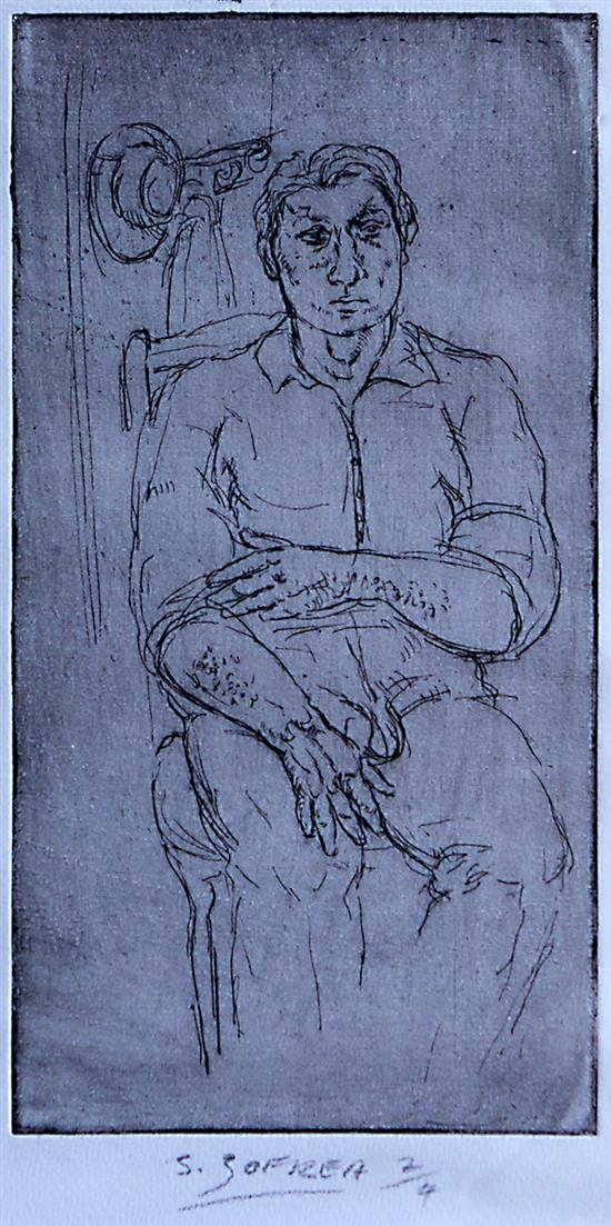 SALVATORE ZOFREA (born 1946) Self-Portrait etching