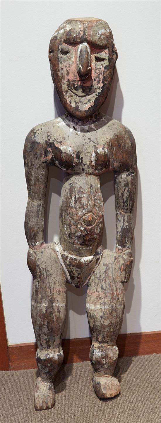 PAPUA NEW GUINEA SCHOOL Figure carved wood