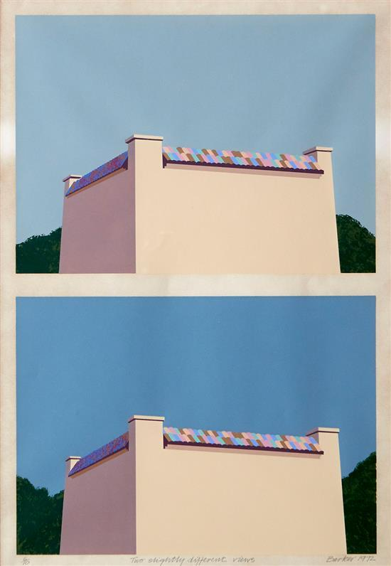 GEORGE BARKER (born 1942) Two Slightly Different Views 1972 screenprint