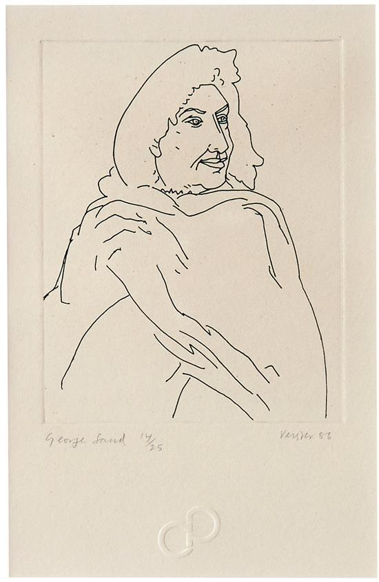 ANDREW VERSTER (South African, born 1937) George Sand 1986 etching