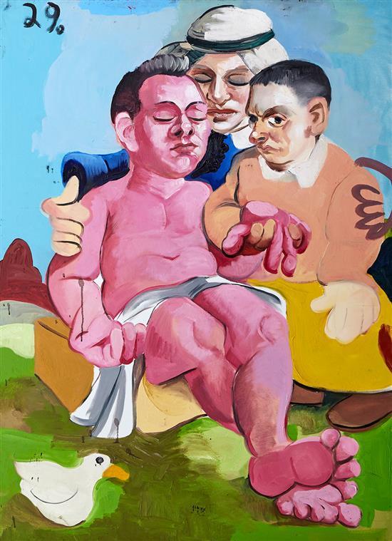 MCLEAN EDWARDS (born 1972) Pieta 2001 oil on canvas