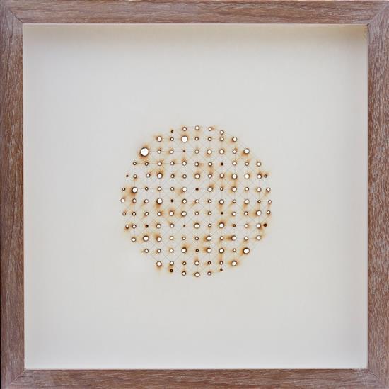 STEPHEN GARRETT (born 1968) Untitled (Sun Drawing) 1999 pencil and glass burn on paper