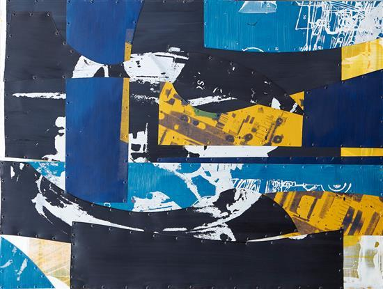 EVAN SALMON (born 1971) Assemblage No.59 2001 oil on aluminium