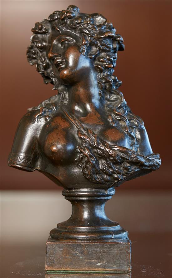 AFTER CLODION (CLAUDE MICHEL) (French, 1738-1814) Woman bronze