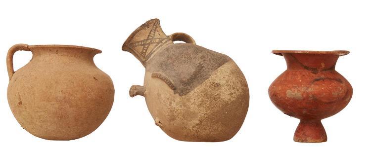 THREE ROMAN ERA POTTERY VESSELS