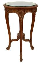 A FRENCH LOUIS XVI STYLE WALNUT SIDE TABLE