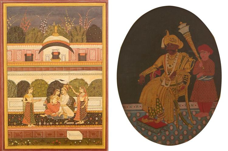 TWO 19TH CENTURY INDIAN PAINTINGS