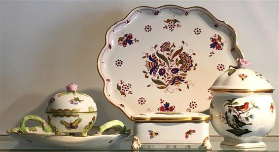 A GROUP OF HEREND PORCELAIN