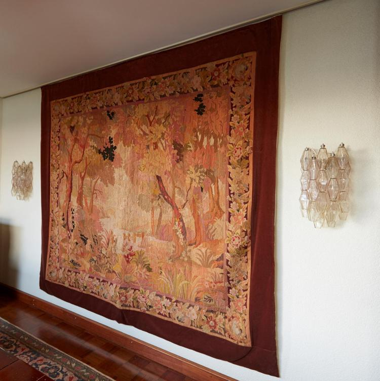 A LARGE LOUIS XV BEAUVAIS TAPESTRY