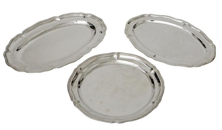 THREE 925 SILVER TRAYS