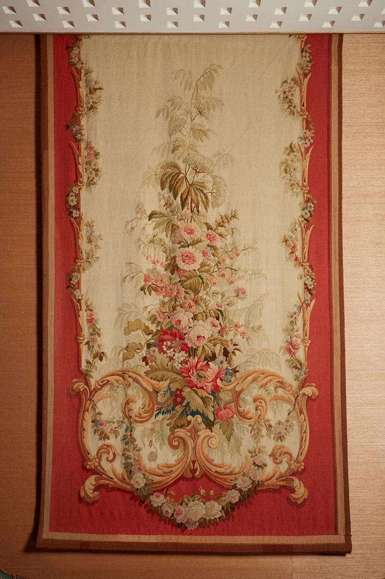 AN AUBUSSON ENTRE FENETRE, MID 19TH CENTURY