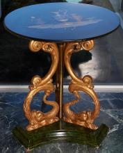 AN ITALIAN NEOCLASSICAL PIETRA DURA AND GILTWOOD TABLE, LATE 19TH CENTURY