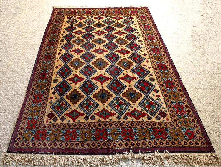 AN AFGHAN CARPET, NORTHWEST PERSIAN DESIGN