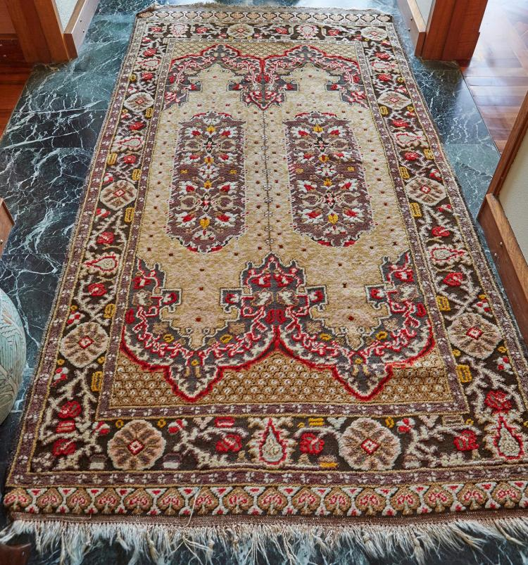 PERSIAN HAND KNOTTED TEXTURED WOOL CARPET