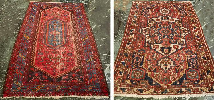 TWO TURKISH HAND KNOTTED CARPETS