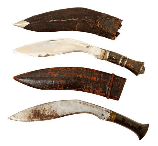 TWO NEPALESE KUKRI, 20TH CENTURY