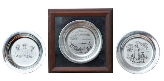 RUSSELL DRYSDALE STERLING SILVER LIMITED EDITION PLATES