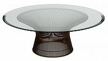 A LARGE PLATNER COFFEE TABLE BY WARREN PLATNER (1919-2006) FOR KNOLL, 1971