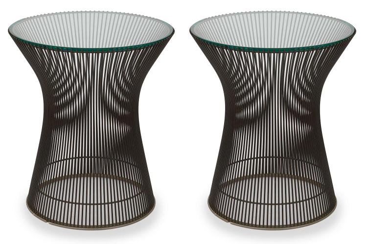 A PAIR OF PLATNER SIDE TABLES BY WARREN PLATNER (1919-2006) FOR KNOLL, CIRCA 1970''S